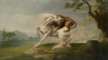 George Stubbs' A Lion Attacking a Horse (c. 1765).