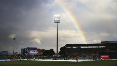Hobart's Blundstone Arena (Bellerive Oval) during the 2015 World Cup.