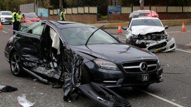 Gai Vieira's car was hit by a speeding police car.