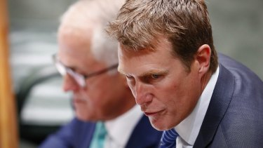 Attorney-General Christian Porter with former prime minister Malcolm Turnbull.