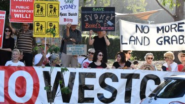 WestConnex has encountered strong opposition from residents in Sydney's inner west.
