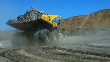 A truck on-site at the Goonyella Riverside Mine.