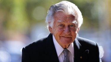 Former Labor prime minister Bob Hawke.