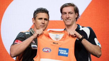 Will Setterfield started his career as a Giant before moving to Carlton last year.