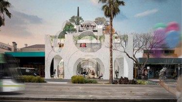 An artist's impression of the design for the Victorian Pride Centre in St Kilda.