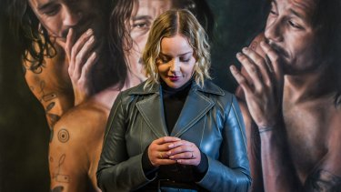 Australian actor Abbie Cornish, ambassador of the <i>Heath Ledger: A Life In Pictures </i> exhibition at the National Film and Sound Archive of Australia.