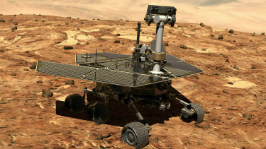 Opportunity on the surface of Mars.