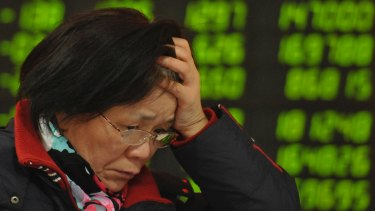 China's share index has fallen into into a bear market.