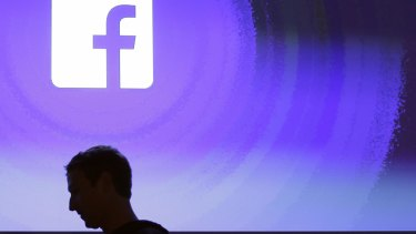 Facebook CEO Mark Zuckerberg  at the company's headquarters in Menlo Park, California.