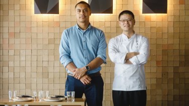 General manager Marcellus Heleta and chef Hao San from Raku.