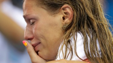Russia's Yulia Efimova, seen crying after placing second in the women's 100m breaststroke final in Rio, knows what it's like to be portrayed as the villain.