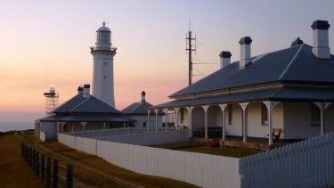 Sunrise at Green Cape Light Station.