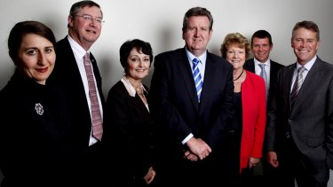 Future premier: NSW Opposition Liberal Party front bench in 2010: Gladys Berejiklian, Greg Smith,Pru Goward, Barry O'Farrell, Jillian Skinner, Mike Baird and Andrew Stoner.