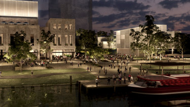 Plans hope to transform the neglected site into a waterfront precinct.