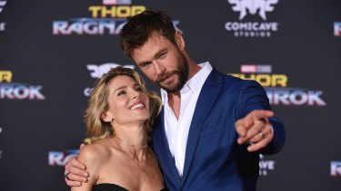 Elsa Pataky and Chris Hemsworth at world premiere of Thor: Ragnarok in 2017.