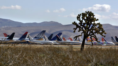 Planes are often located indry desert climate to reduce corrosion and keep aircraft in good condition until they return to service, are sold or stripped for parts.
