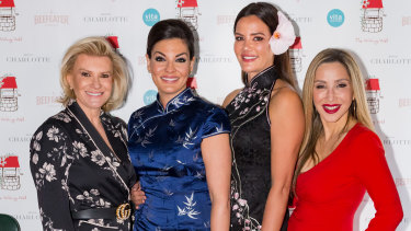 """Victoria Rees, Nicole O'Neil, Krissy Marsh and Matty Samaei at the """"Only In Shangers Lunch"""" in aid of The Wishing Well on Wednesday."""