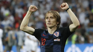 Superstar: Luka Modric may be the world's best midfielder.