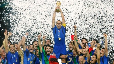 Distant memory: Italy celebrate winning the 2006 World Cup.