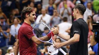 Brisbane's John Millman knocks Roger Federer out of the US Open.