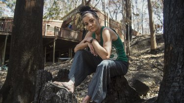 Binna Burra resident Sharon Innis was forced to flee her home during last month's fire.
