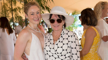 Anna Boniface and Marilynn Paspaley at Cable Beach Polo in Broome.