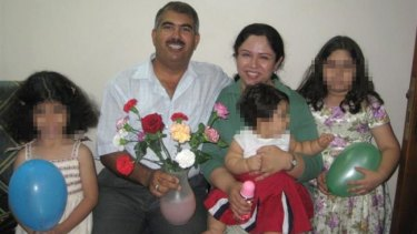 Baha'i man Hamed bin Haydara - here with his family - was sentenced to death by a Yemeni court on charges of spying for Israel and converting Muslims to the Bahai faith.
