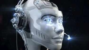 Robots do not have to take the humanoid shape. They can be devices to help in manufacturing.