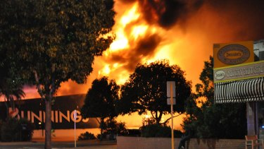 Bunnings in Inglewood was gutted during the huge blaze.