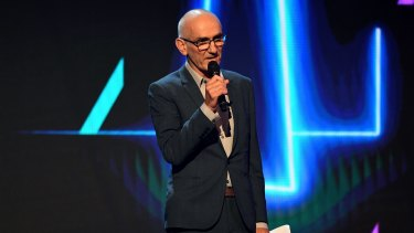 Paul Kelly accepts the ARIA for Best Adult Album during the 31st ARIA Awards at The Star, in Sydney.