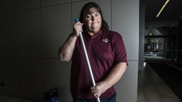 Cleaner Judith Barber was worried she would be short-changed for the number hours she worked when the contract changes were first proposed years ago.