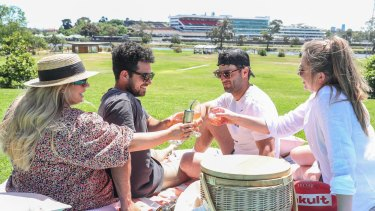 Melburnians flocked to parks to picnic once restrictions eased.