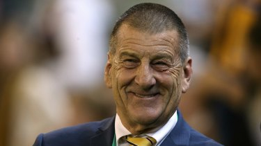 Former Victorian premier and current Hawthorn president Jeff Kennett.