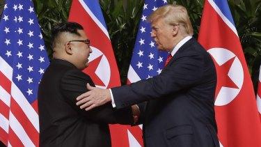President Donald Trump with North Korea leader Kim Jong-un in 2018.