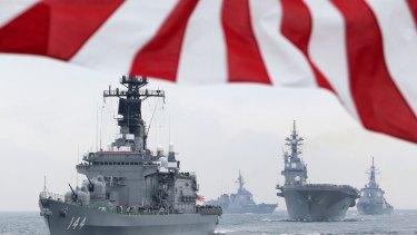 Japan Maritime Self-Defense Force ships.