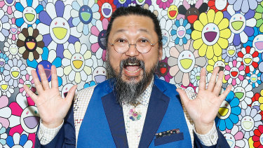 Murakami's signature style is a cartoonish abundance of the seemingly cute.