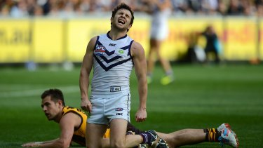 Hayden Ballantyne was left gutted after several missed chances in the 2013 AFL Grand Final against Hawthorn.