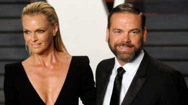 Heavy hitters: Lachlan Murdoch and wife Sarah. Linda Norquay is the CFO of Murdoch's private investment vehicle Illyria.