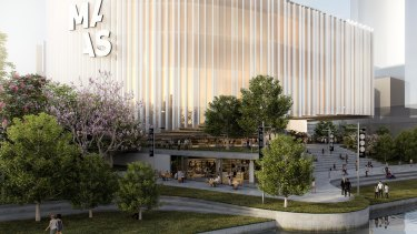 An artist's impression of the new Powerhouse Museum at Parramatta.