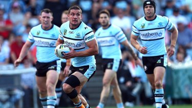 Chris Heighington in his playing days for Cronulla.
