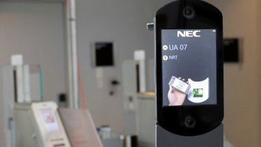 A US Customs and Border Protection facial recognition device.