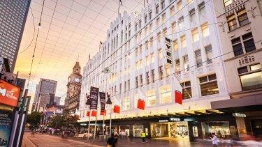 Myer Melbourne in Bourke Street.