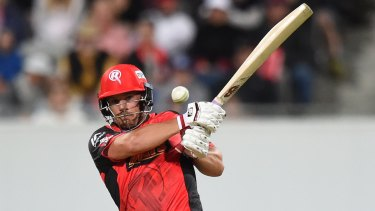 Aaron Finch in action for the Renegades.
