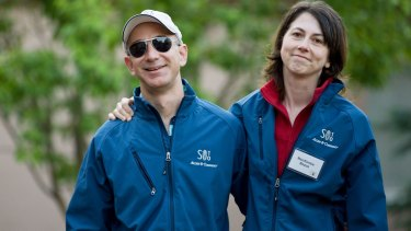 It is speculated Mackenzie Bezos could have as much as an 8 per cent stock holding in the company.