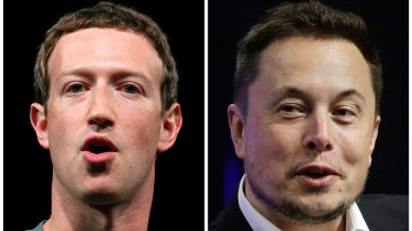 Opposing views: Facebook CEO Mark Zuckerberg and Tesla chief Elon Musk have had differences in the past.