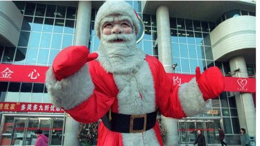 Santa Claus in Beijing
