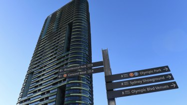 The troubled Opal Tower in Sydney's Olympic Park.