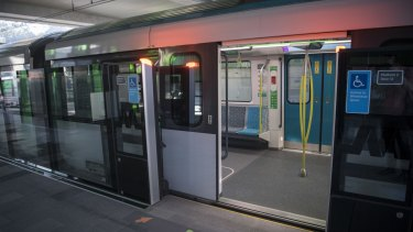 The new Sydney Metro on its first day, before Wednesday's disruptions.