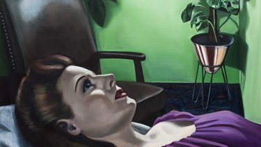 """Anne Wallace's 2010 painting """"Talking Cure""""."""