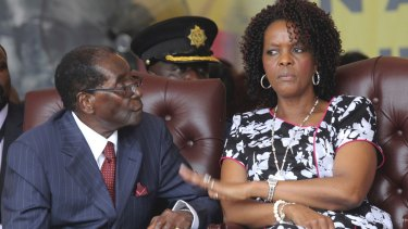 Then-President Robert Mugabe and his wife Grace attend his birthday celebrations in Masvingo in 2016.
